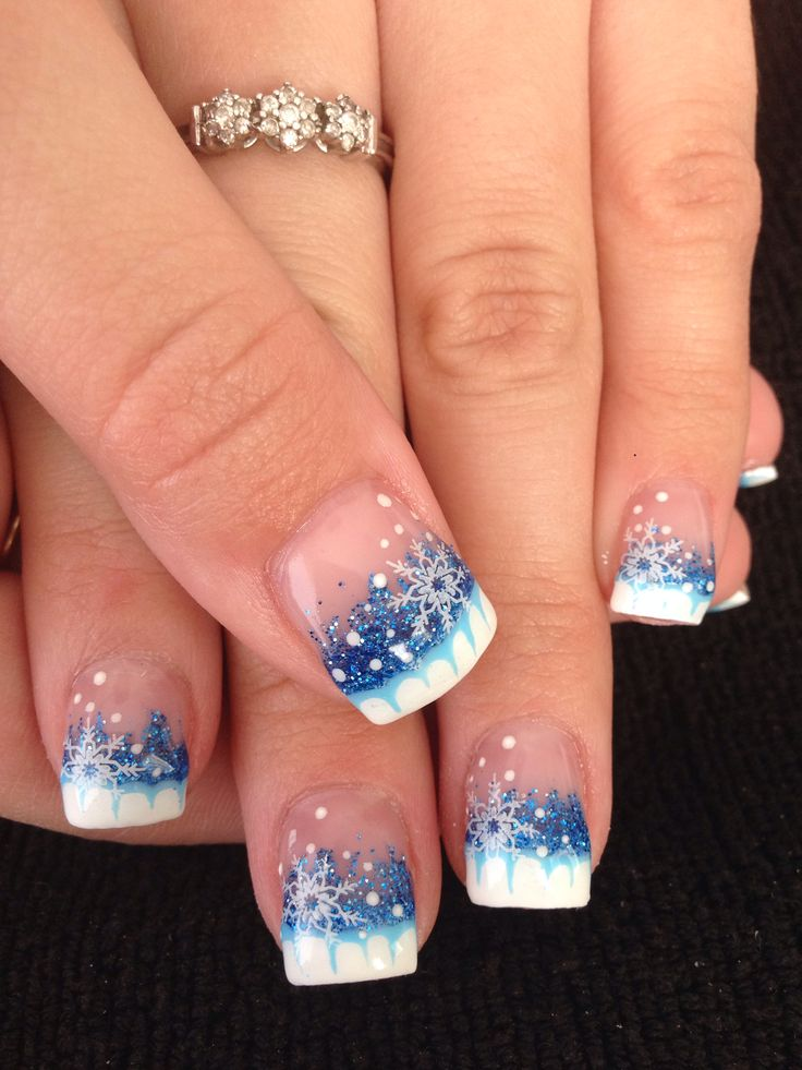christmas snowflake nail art designs