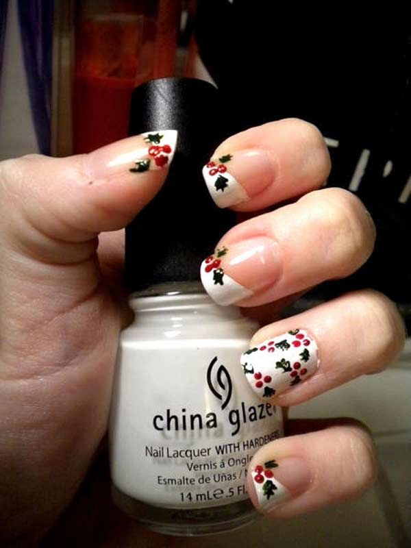 Christmas nail designs and nail art page 4 of 5 nail designs holly christmas nail design prinsesfo Gallery