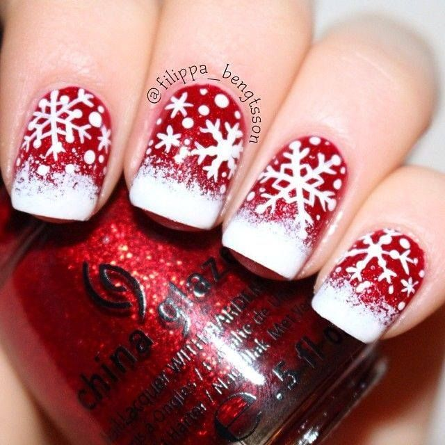 red and white christmas snowflake designs