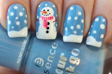 Xmas nail designs archives nail designs for you snowman christmas nail design prinsesfo Image collections