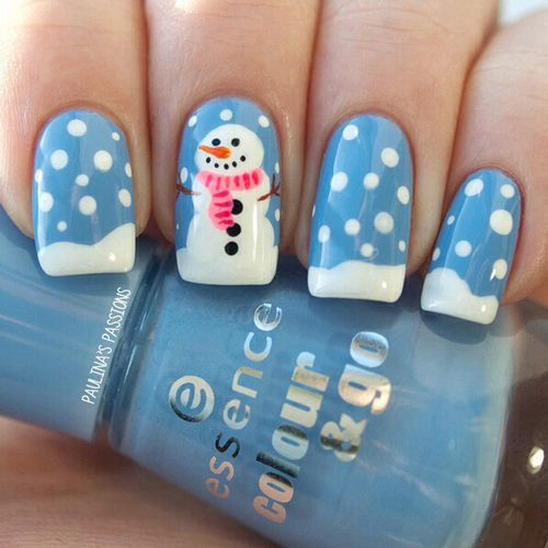 Christmas nail designs and nail art nail designs for you snowman christmas nail design prinsesfo Image collections