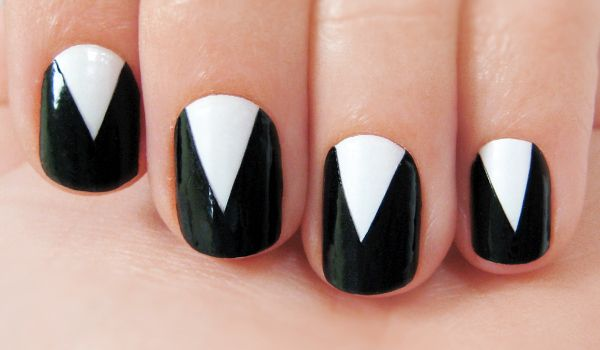 Black And White Geometic Nail Designs Nail Designs For You
