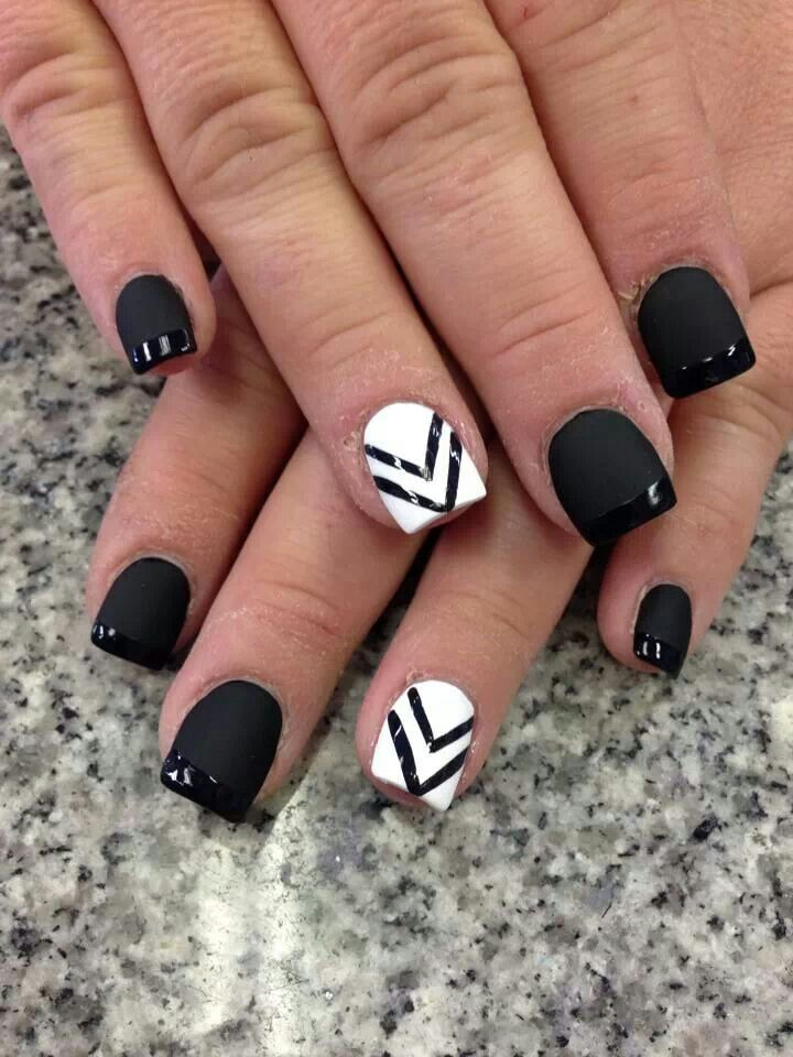 Striped Black and White Nail Designs - 32 Black And White Nail Designs And Art - Page 2 Of 6 - Nail
