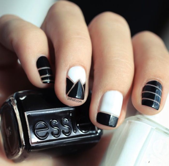 Nice Black and White Nail Designs