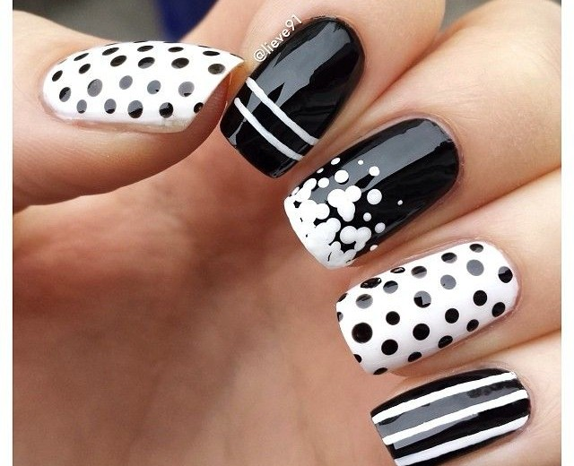 32 Black and White Nail Designs and Art - 32 Black And White Nail Designs And Art - Nail Designs For You