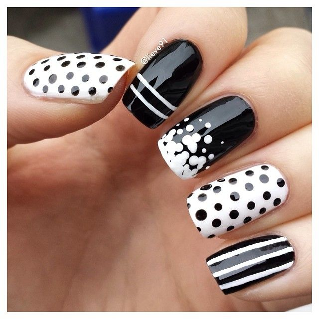 32 Black And White Nail Designs And Art Nail Designs For You