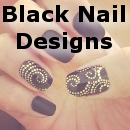 Black Nail Designs Small