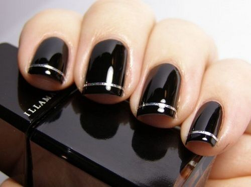 Elegant Black Nail Design