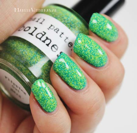 green glitter nail art design  nail designs for you