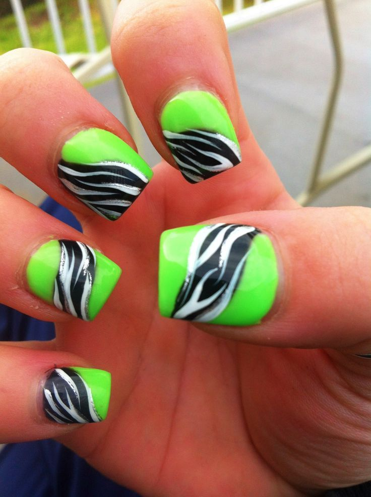 Lime Green Nail Design