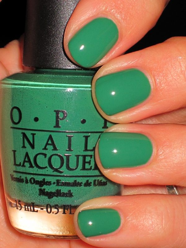OPI Green Colorful Nails