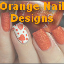 Orange Nail Designs Small2