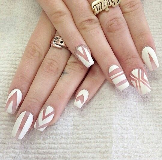 Transparent White Nail Designs