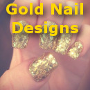 gold nail designs small