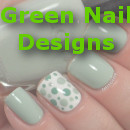 green nail designs small