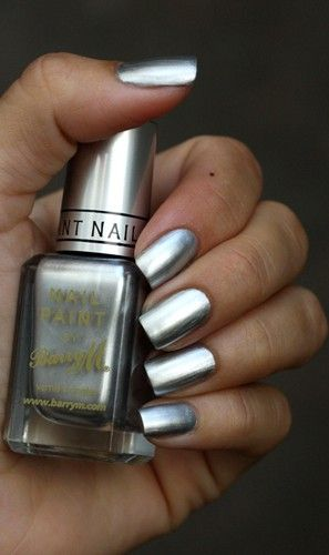 Barry M Silver Foil Nails