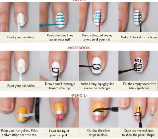 nail stripe design tutorial