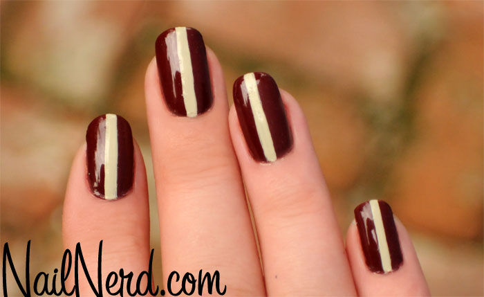 single vertical striped nail design
