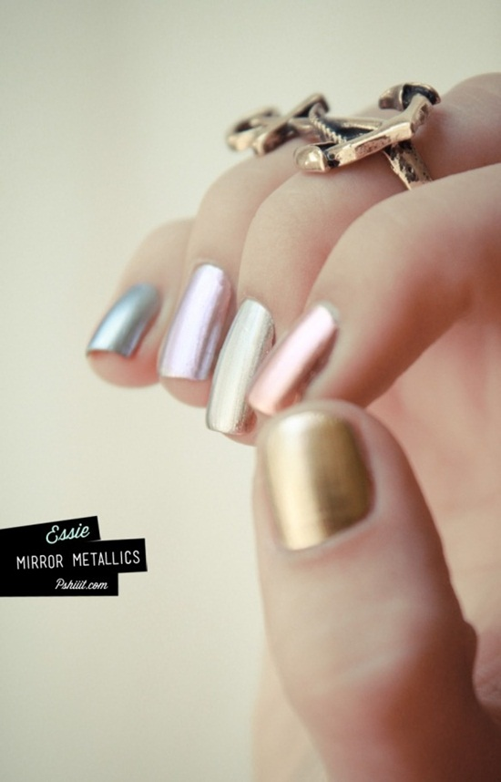 colored metallic nail polish