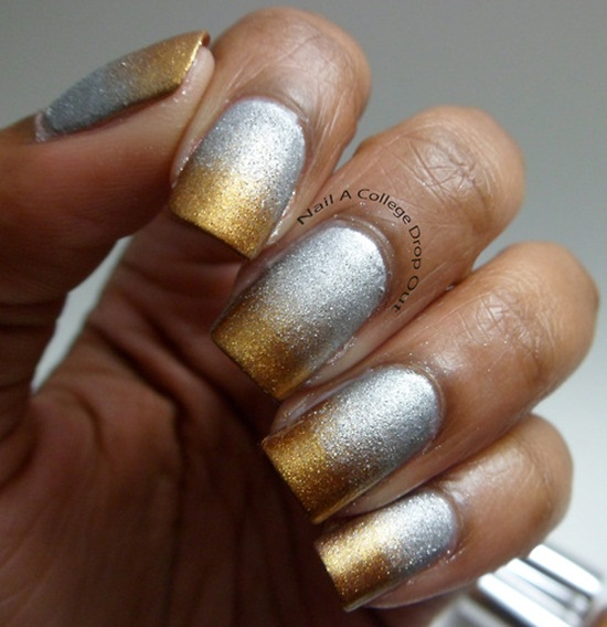 metallic nail polish design 3