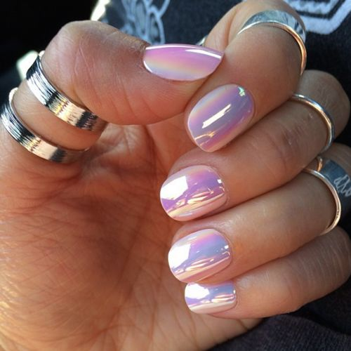 metallic nail design 4