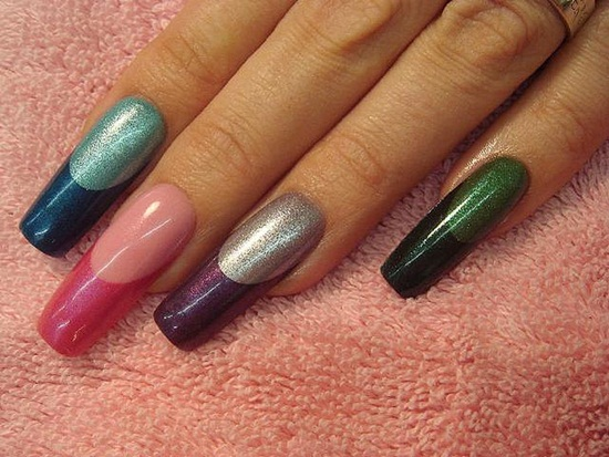 metallic stiletto nail designs