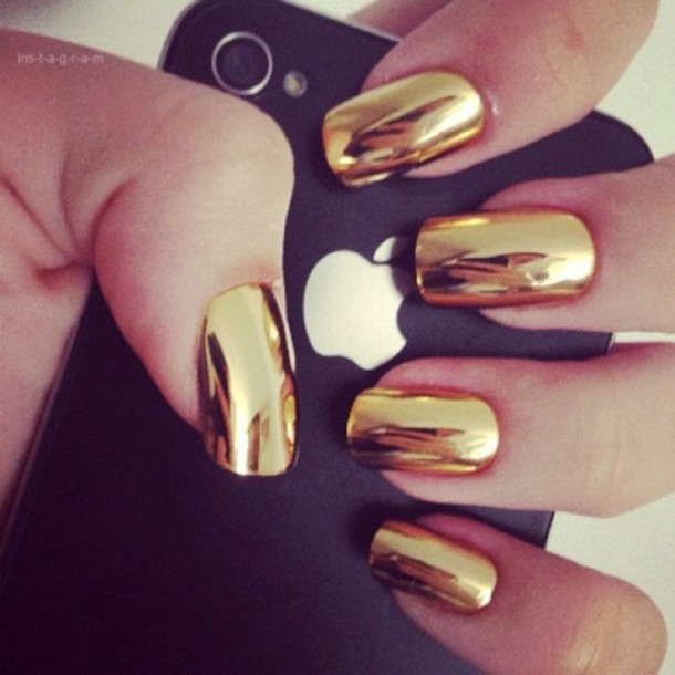 nail+polish-nails-gold-metallic