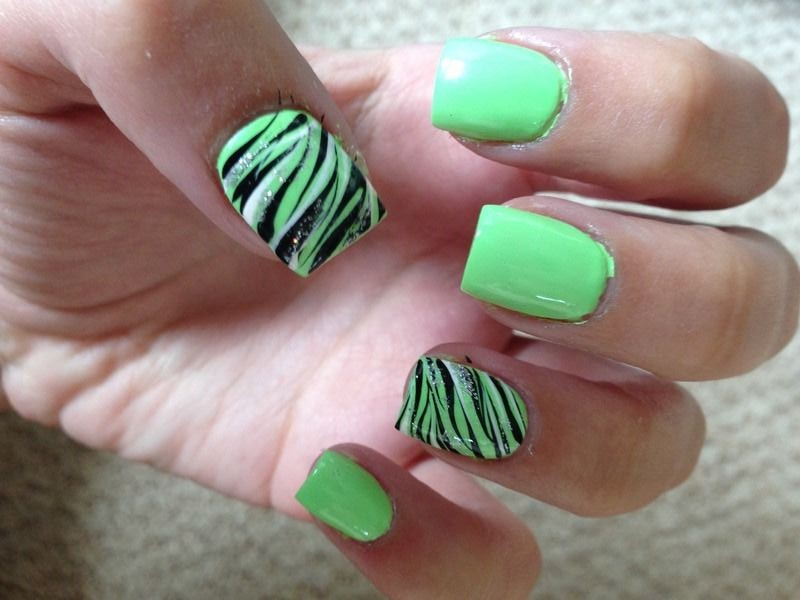 Zebra Print Nail Design 10 Part 94