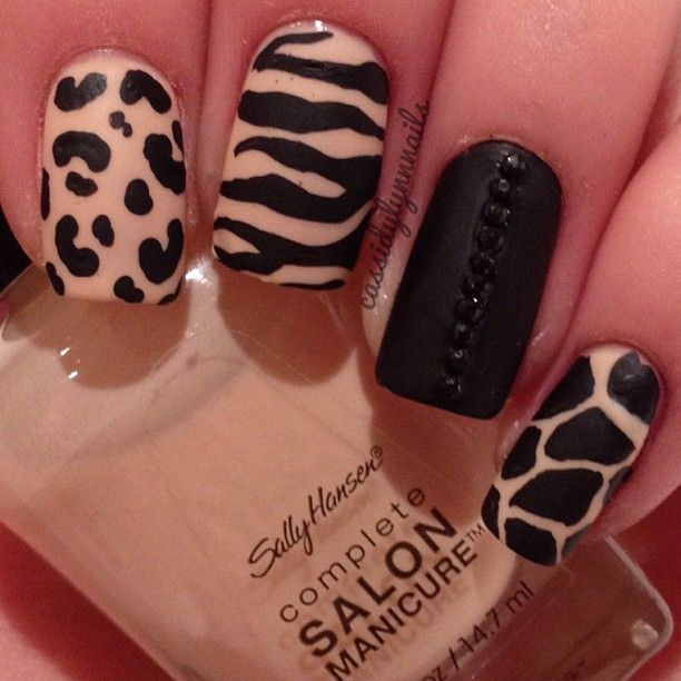 22 zebra print nail designs nail designs for you zebra print nail designs 14 prinsesfo Image collections