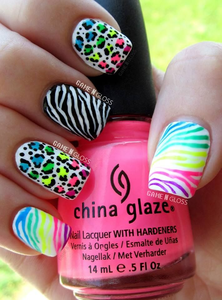 22 Zebra Print Nail Designs Nail Designs For You