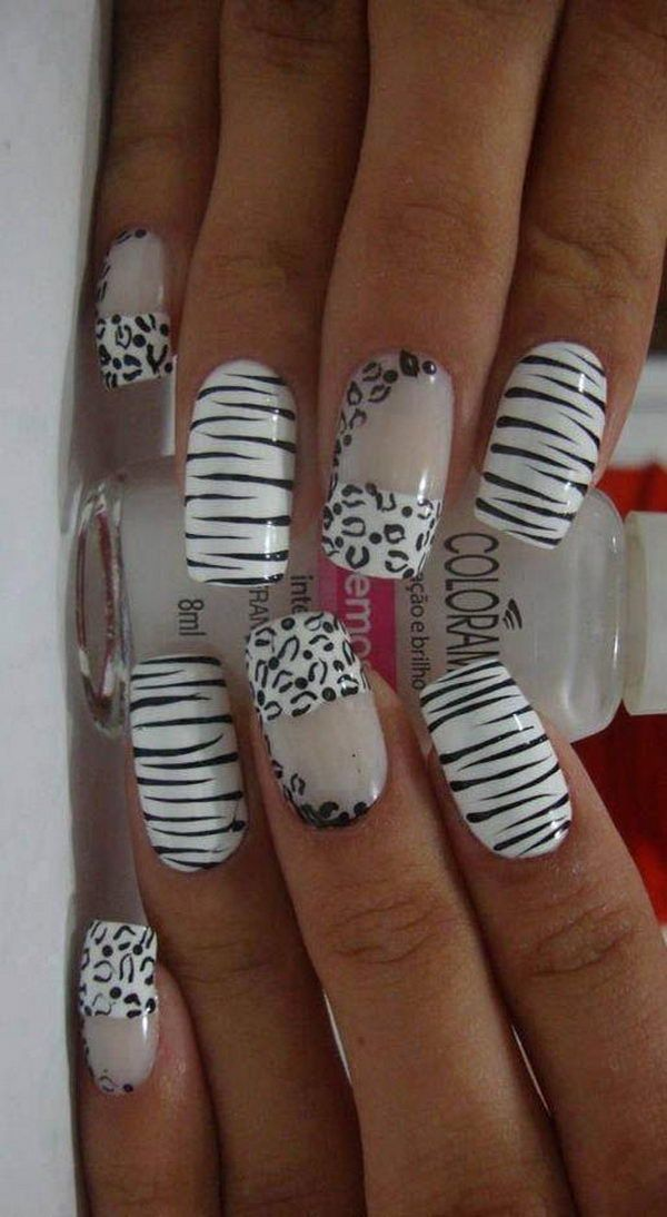 22 zebra print nail designs nail designs for you zebra print nail designs 8 prinsesfo Image collections